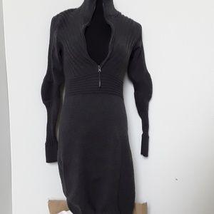 Athleta gray sweater dress
